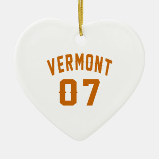 Vermont 07 Birthday Designs Ceramic Ornament