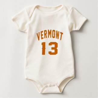 Vermont 13 Birthday Designs Baby Bodysuit