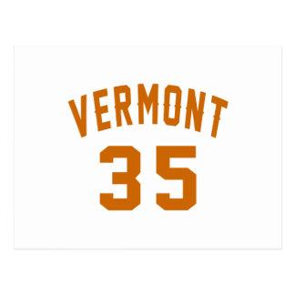 Vermont 35 Birthday Designs Postcard