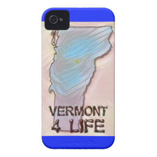 """""""Vermont 4 Life"""" State Map Pride Design iPhone 4 Cover"""