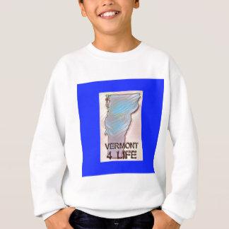 """Vermont 4 Life"" State Map Pride Design Sweatshirt"