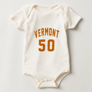 Vermont 50 Birthday Designs Baby Bodysuit