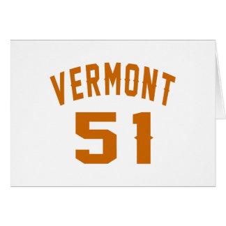 Vermont 51 Birthday Designs Card
