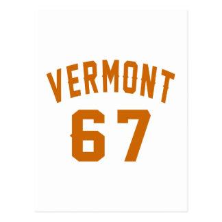 Vermont 67 Birthday Designs Postcard