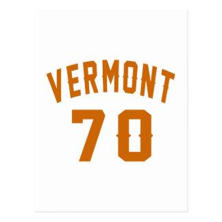 Vermont 70 Birthday Designs Postcard