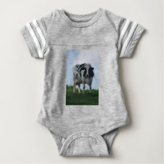 Vermont  Black and White Dairy Cow Baby Bodysuit