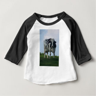 Vermont  Black and White Dairy Cow Baby T-Shirt