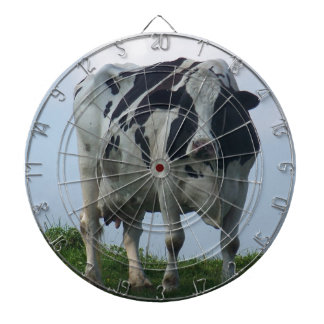 Vermont  Black and White Dairy Cow Dartboard