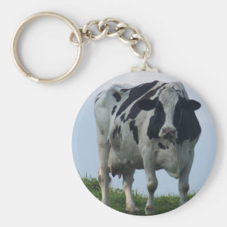 Vermont  Black and White Dairy Cow Keychain