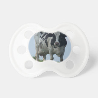 Vermont  Black and White Dairy Cow Pacifier