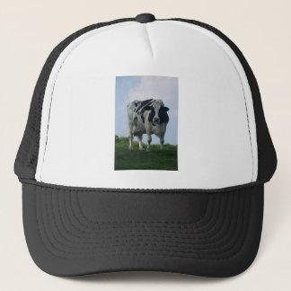 Vermont  Black and White Dairy Cow Trucker Hat