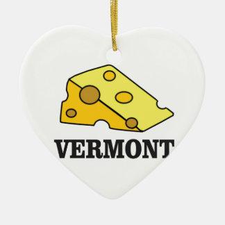 Vermont Cheddar Ceramic Ornament