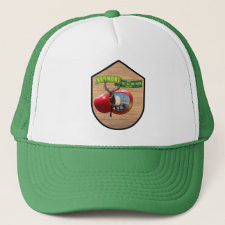 Vermont - Elk stepping out of Vermont apple Trucker Hat