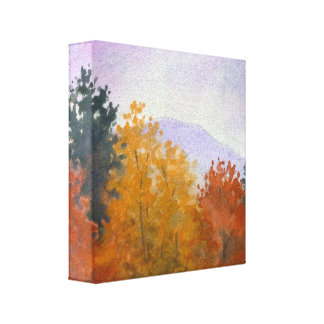 Vermont Fall Foliage Landscape Canvas Print