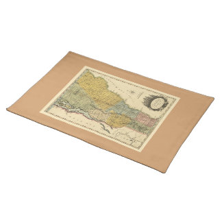Vermont, From actual Survey - Vintage 1814 Map Placemat