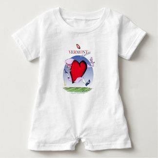 Vermont head heart, tony fernandes baby romper