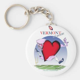 Vermont head heart, tony fernandes basic round button keychain