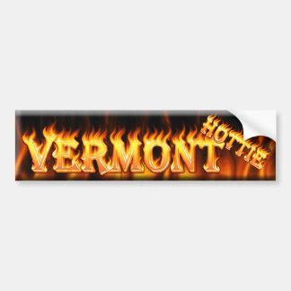 vermont hottie bumper sticker