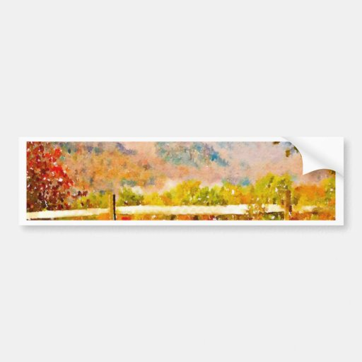Vermont in the Fall Bumper Stickers