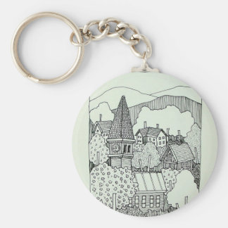 Vermont Inking 41 by Piliero Basic Round Button Keychain