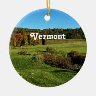 Vermont Landscape Ceramic Ornament