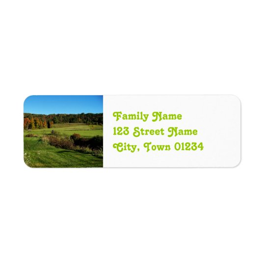 Vermont Landscape Return Address Label