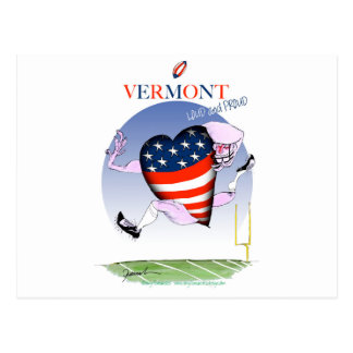Vermont loud and proud, tony fernandes postcard
