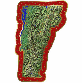 Vermont Map Christmas Ornament Cut Out