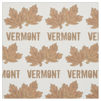 Vermont Maple Leaf Leaves Sugar Candy VT Foodie Fabric
