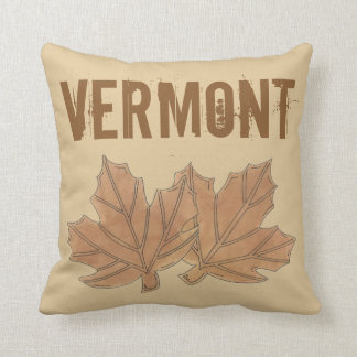 Vermont Maple Leaf Leaves Sugar Candy VT Foodie Throw Pillow