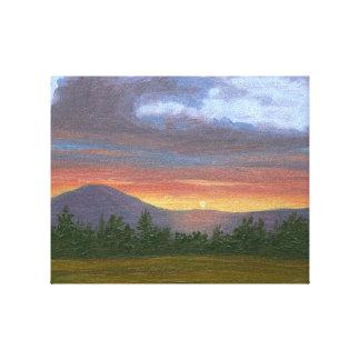 Vermont Mountain Sunset Landscape Canvas Print