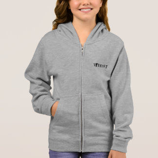 Vermont Name with State Shaped Letter kids Hoodie