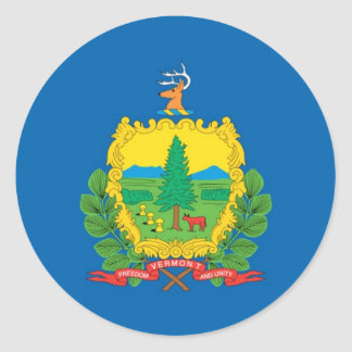 Vermont  Official State Flag Classic Round Sticker