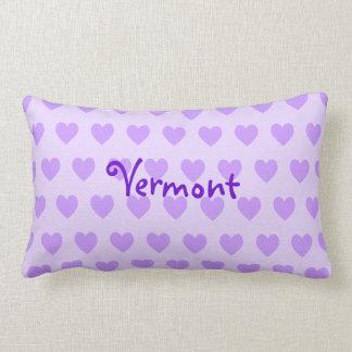 Vermont on Purple Heart Pattern Lumbar Pillow