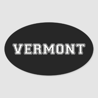Vermont Oval Sticker