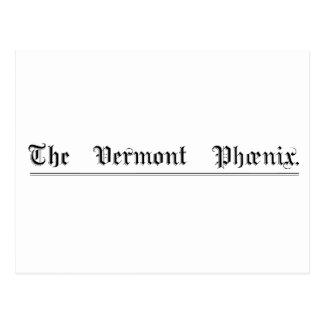 Vermont Phoenix Masthead Postcard