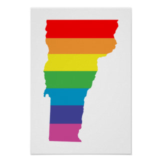 vermont rainbow poster