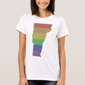 Vermont Rainbow Pride Flag Mosaic For Her T-Shirt