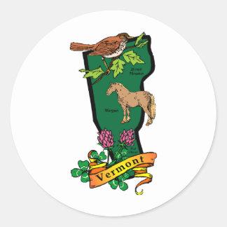 Vermont Round Sticker