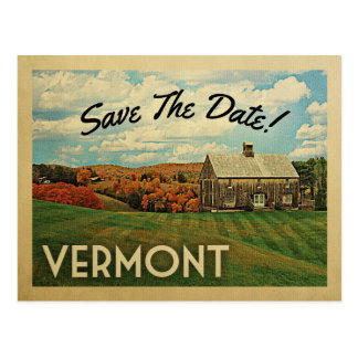 Vermont Save The Date Vintage Postcards