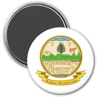 Vermont Seal 3 Inch Round Magnet