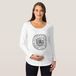 Vermont Seal Maternity T-Shirt