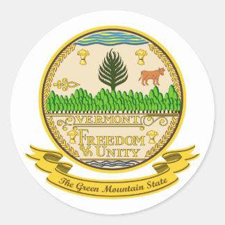 Vermont Seal Round Sticker