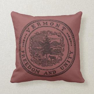 Vermont Seal Throw Pillow