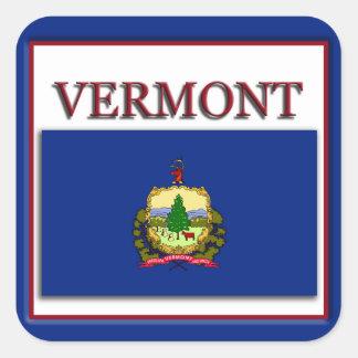 Vermont  State Flag Design Sticker