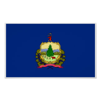 Vermont State Flag Poster