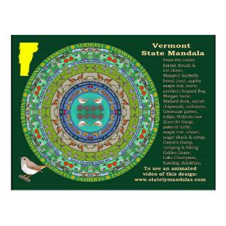 Vermont State Mandala Postcard