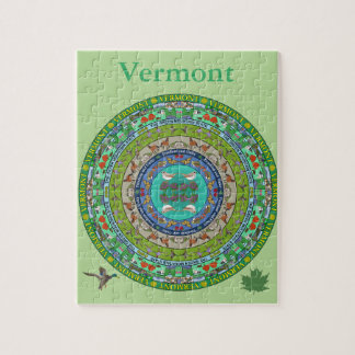 Vermont State Mandala Puzzle