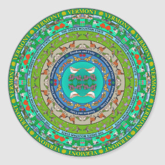 Vermont State Mandala Sticker