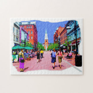 Vermont Street Painting Jigsaw Puzzle